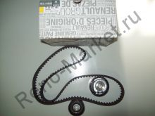 Комплект ГРМ (ремень+ролики) (двигатель 1.8 и 2.0) Renault оригинал 7701477093